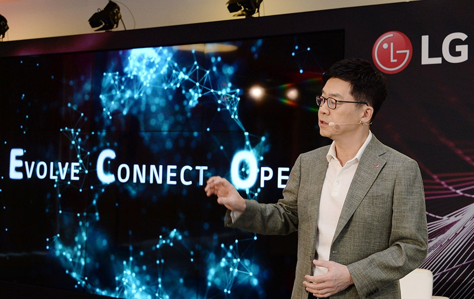dr.ip park shared the LG's vision for an AI-powered future where Anywhere is Home