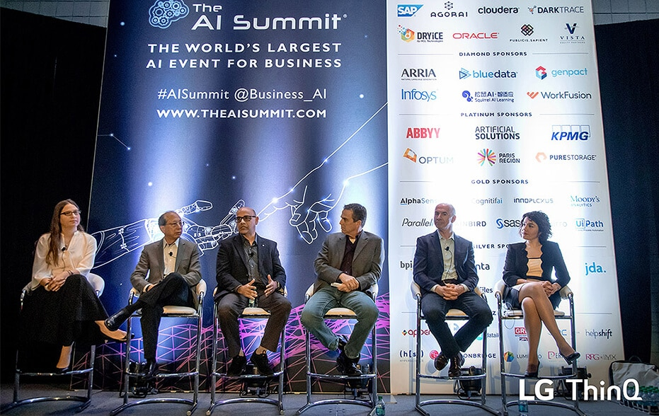 Mohammed Ansari participates in panel discussion at the AI Summit in New York to talk about LG ThinQ