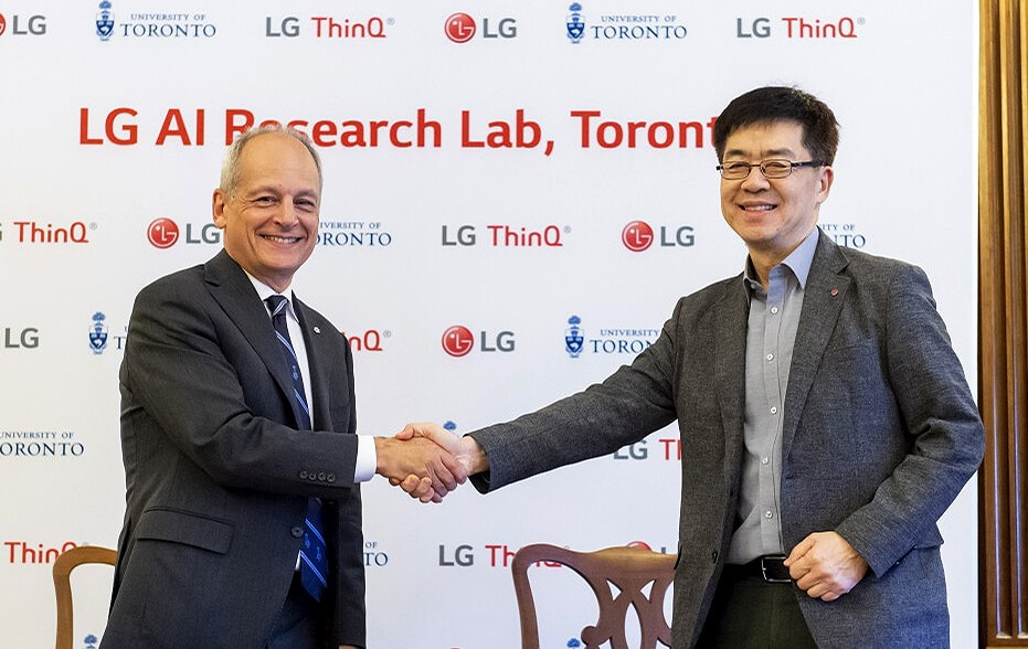 LG AI Research Lab builds research partnership with the University of Toronto to expand the AI ecosystem
