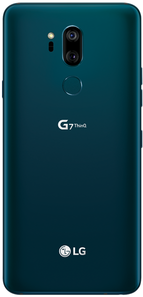 Back of the Moroccan blue LG G7 ThinQ