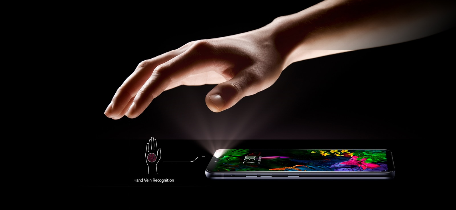 Hand vein recogntion unlocking phone