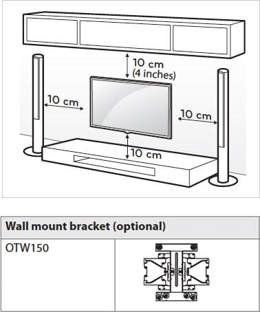 lg oled setup distance unpacking mounting lg usa. Black Bedroom Furniture Sets. Home Design Ideas