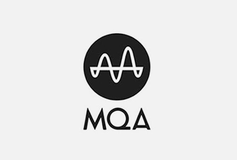 Logo của MQA trên nền xám