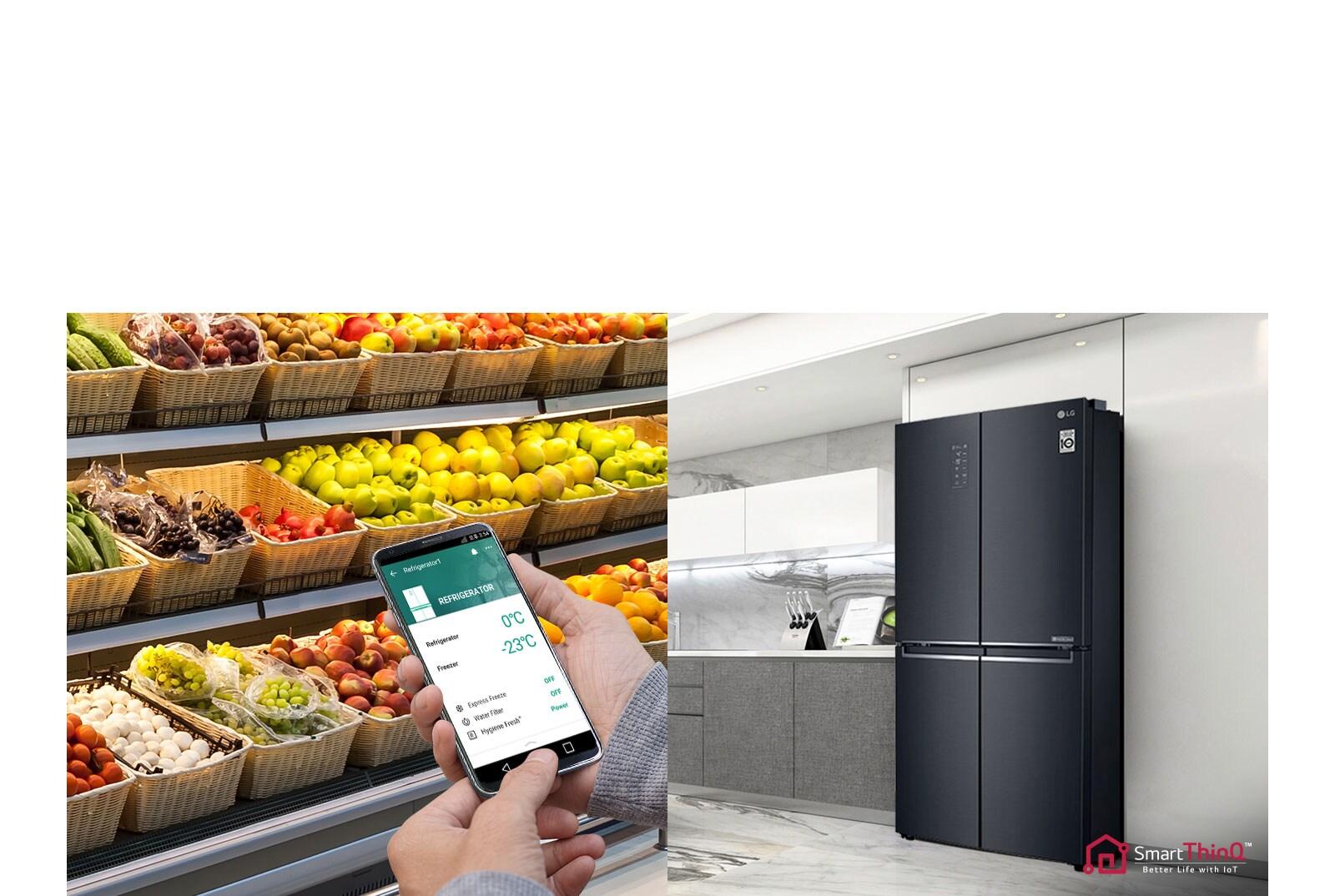 Tủ lạnh LG Inverter 490 lít GR-B22MC