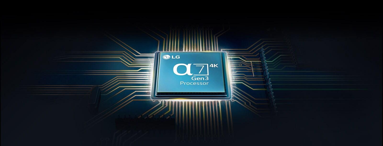 Chip Alpha 7 gắn trên bảng mạch chính của TV