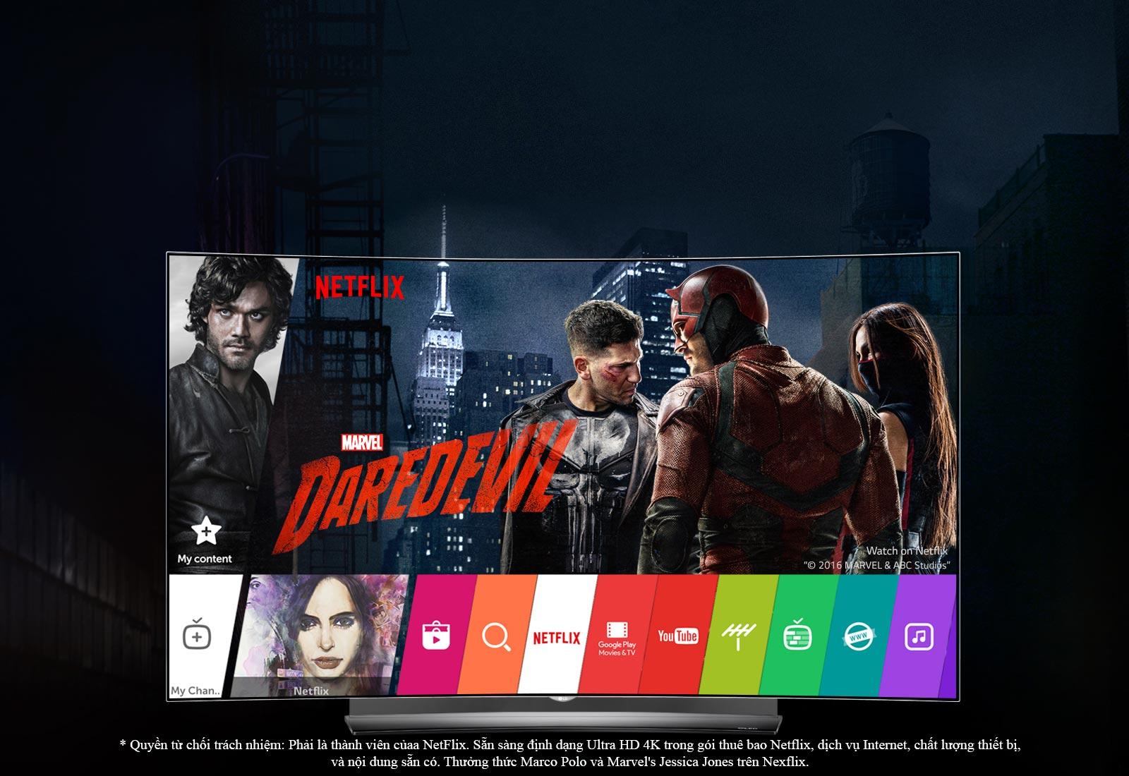 TV LG OLED TV hoàn hảo cho Netflix