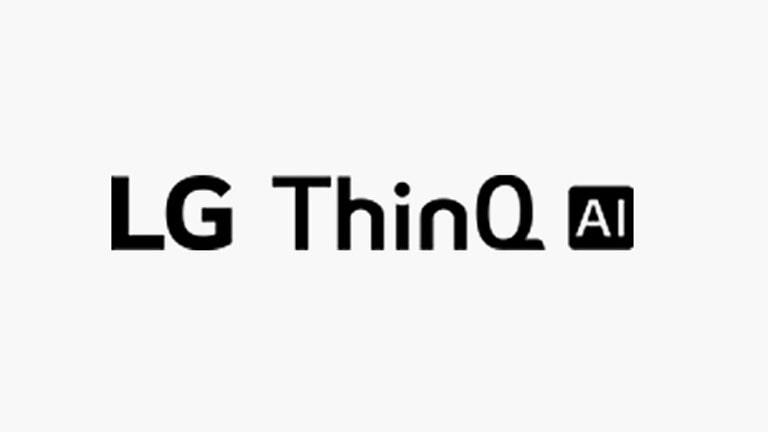Thẻ này mô tả lệnh giọng nói. Logo LG ThinQ AI, được hiển thị.