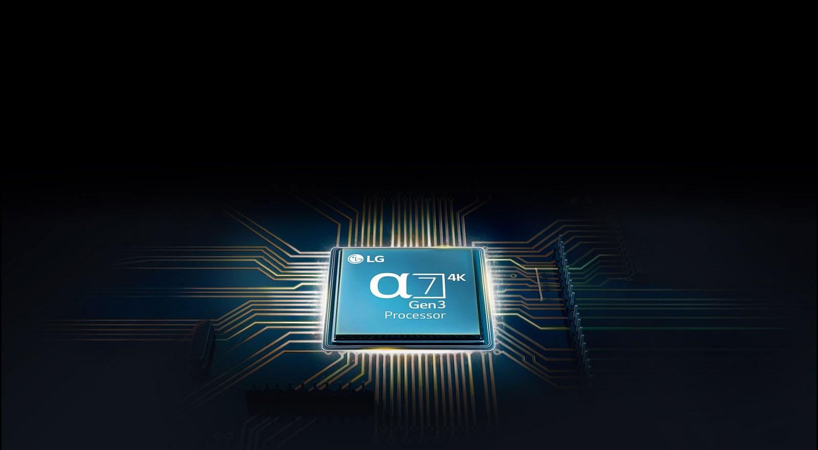 Chip Alpha 7 gắn trên bo mạch chủ TV