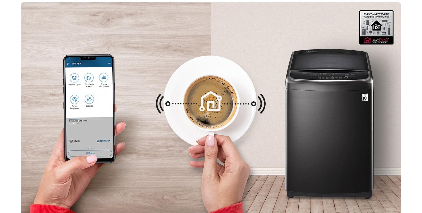 Giặt thông minh với Wi-Fi3