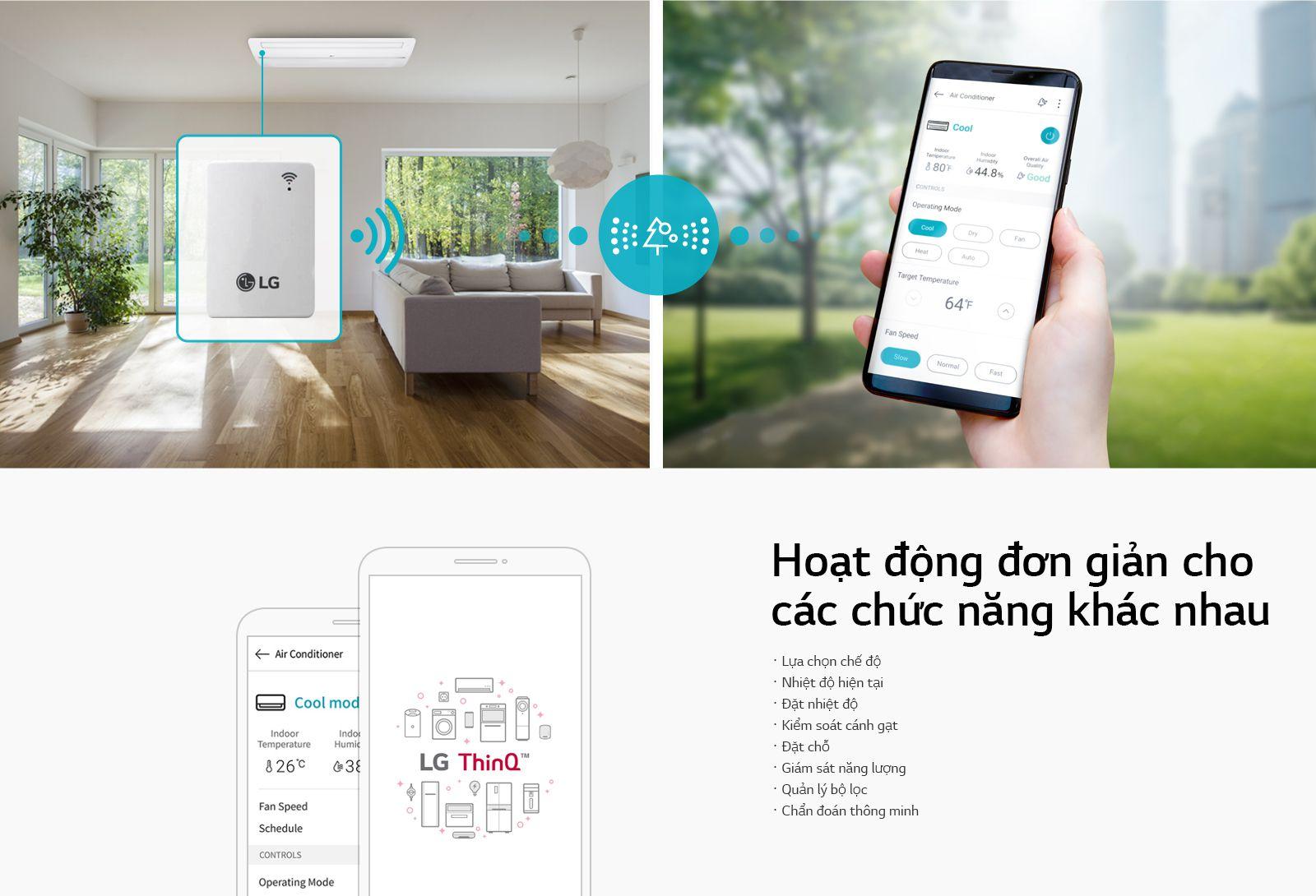 Điều khiển từ xa Wi-Fi với LG ThinQ™1