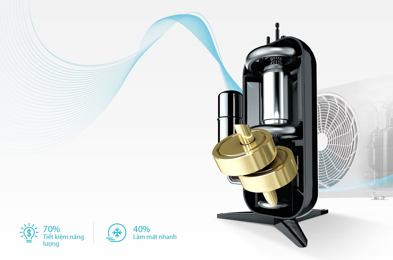 Bảo hành 10 năm máy nén kép Dual Inverter™