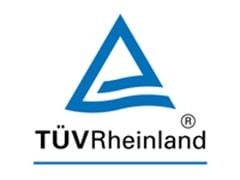 Logo TUV Rheinland với hai chấm bên dưới logo. Dấu chấm đầu tiên được thể hiện nổi bật cho biết đây là hình ảnh đầu tiên trong số hai hình ảnh.