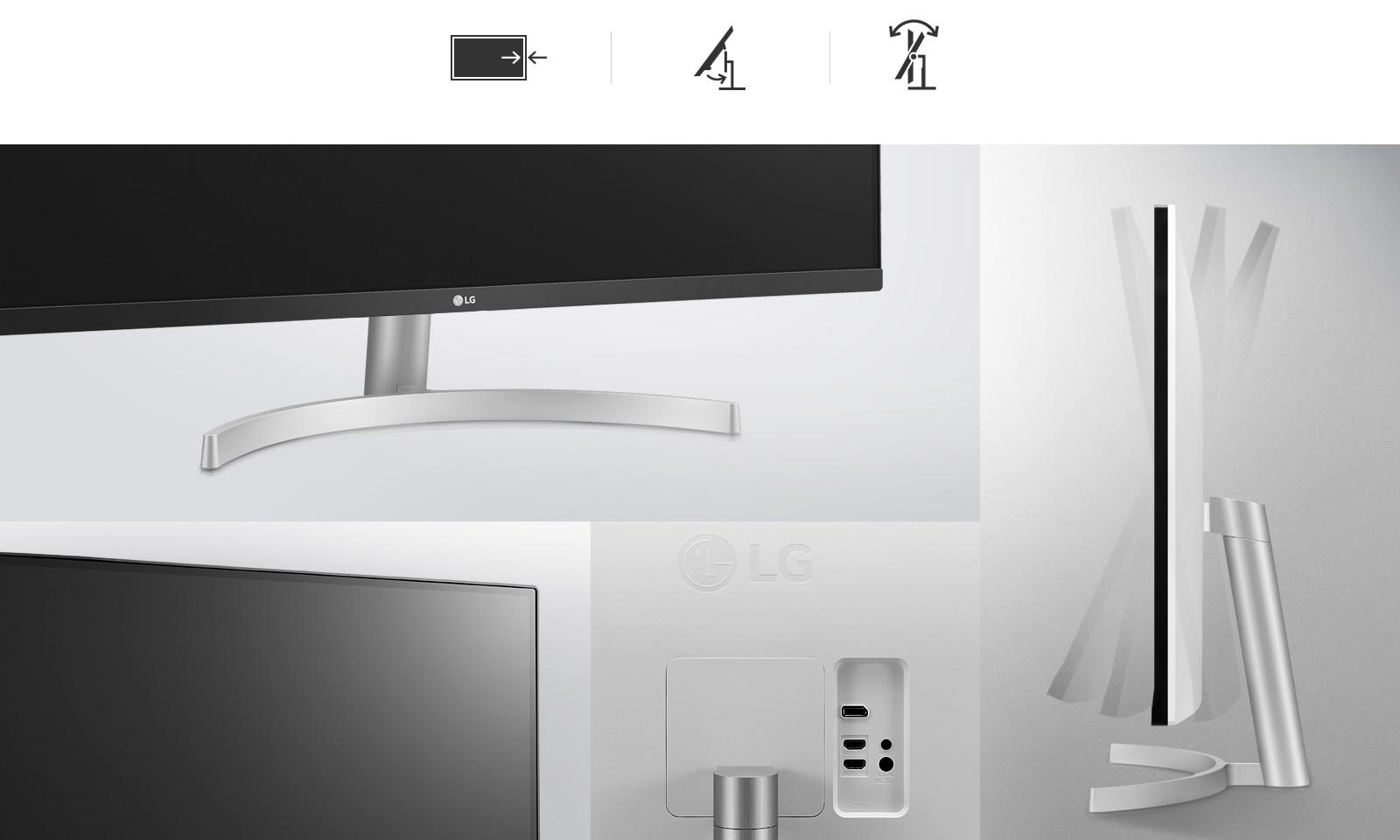Điều chỉnh độ nghiêng, chân đế lắp vào khớp nhanh One-Click và thiết kế 3 cạnh Viền siêu mỏng