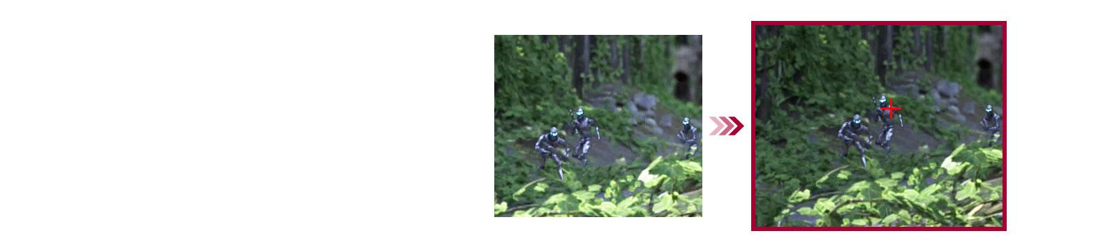So sánh hai cảnh game giữa chế độ thông thường và chế độ Crosshair giúp người chơi ngắm bắn tốt hơn