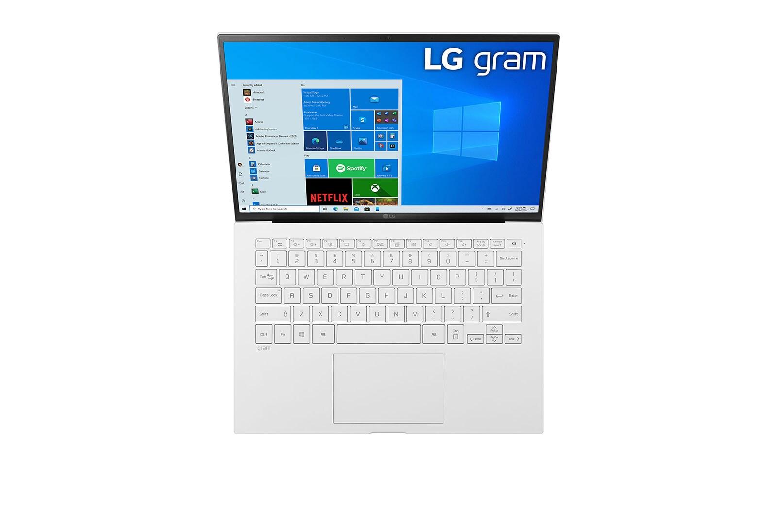 LG Laptop LG gram 14'', Intel® Core™ i5 Gen11, 8GB, 256GB, 16:10, Hình ảnh phía trên và nắp mở, 14ZD90P-G.AX51A5