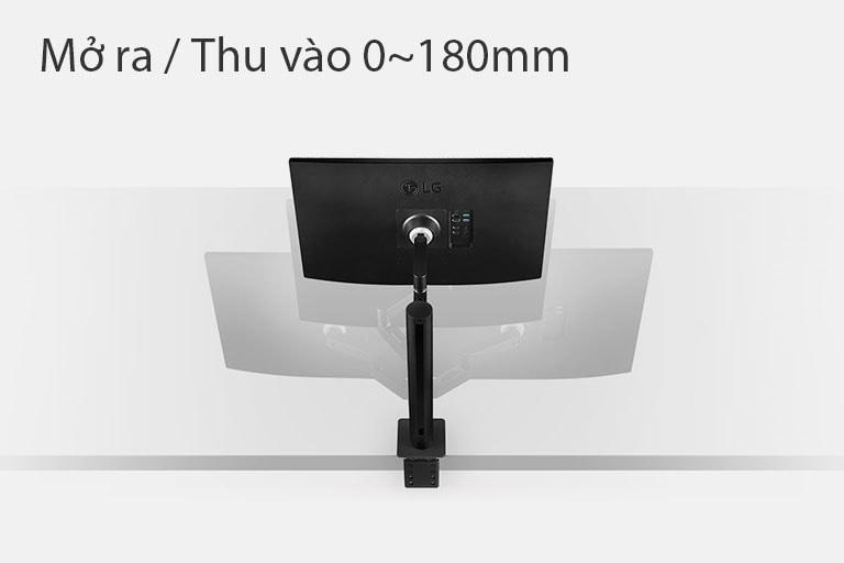 Mô phỏng phạm vi Mở ra và Thu vào 0~180mm
