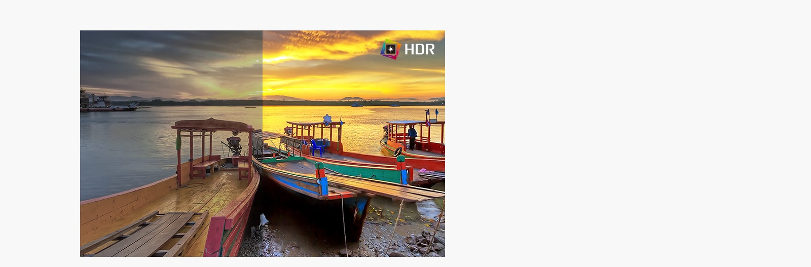 Công nghệ HDR với hình ảnh hiển thị màu sắc ấn tượng khi so sánh với SDR