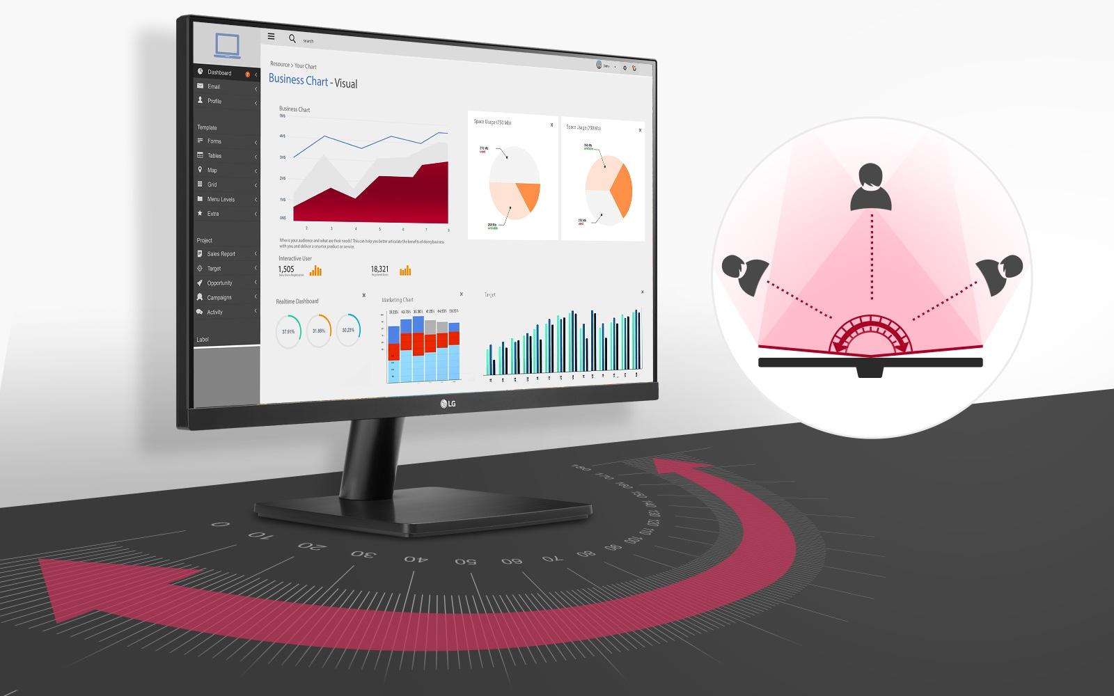 Màu sắc rõ hơn và đảm bảo tính chân thực khi hiển thị ở góc rộng lên tới 178 độ trên màn hình IPS Full HD