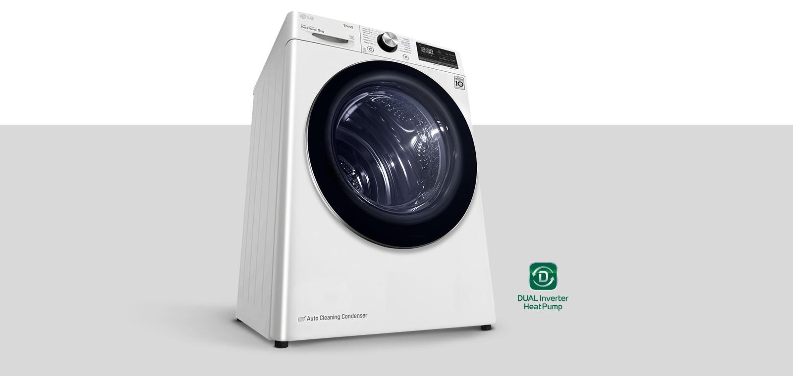 Hình ảnh sản phẩm Máy sấy DUAL Inverter Heat Pump™ kèm logo