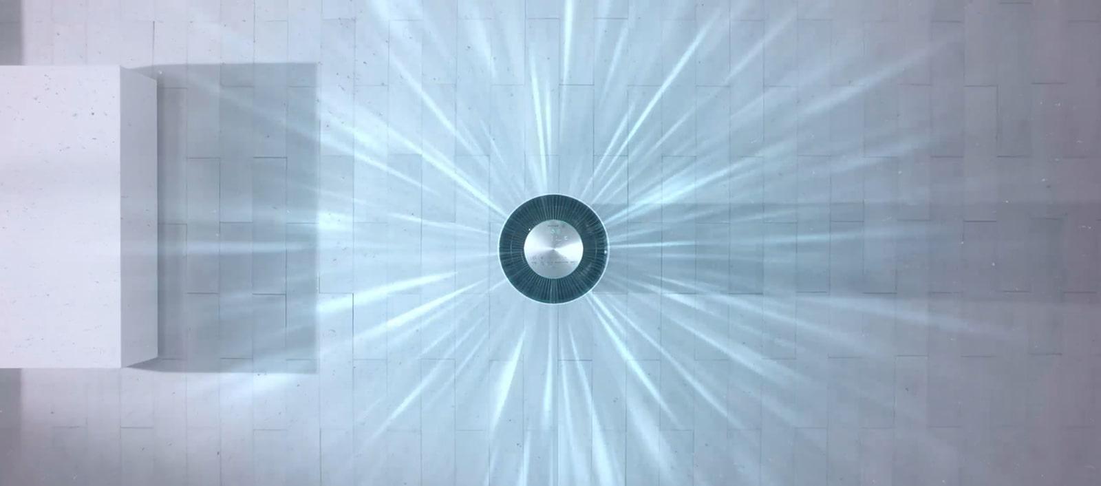 Hình ảnh mô tả máy lọc không khí hút khí bẩn và đẩy khí sạch ra mọi hướng