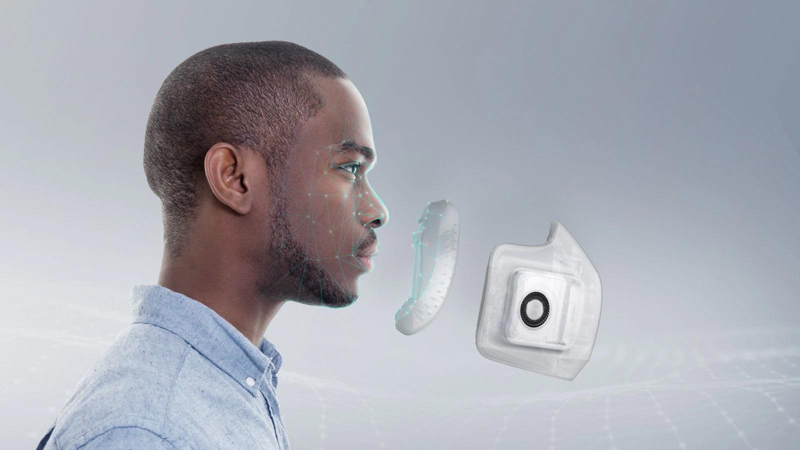 Sản phẩm khẩu trang lọc khí LG PuriCare™ được tạo nên nhờ kết hợp kiến tức của ngành sinh trắc học và vật lý môi trường nhằm mang đến thiết kế tối ưu nhất cho người sử dụng.