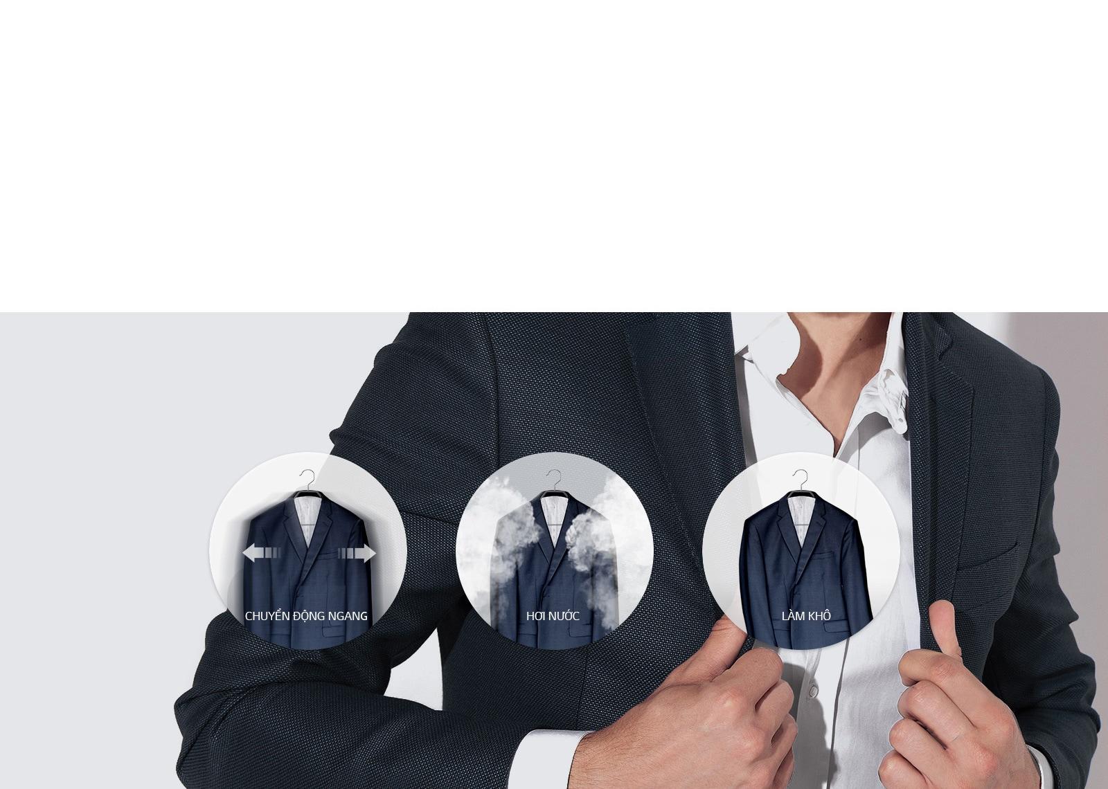 Chăm sóc quần áo bằng hơi nước TrueSteam™