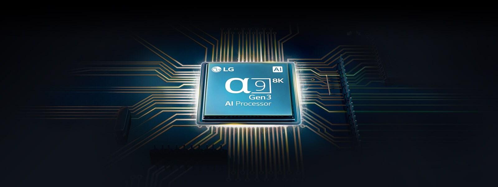 Chip Alpha 9 gắn trên bo mạch chủ TV