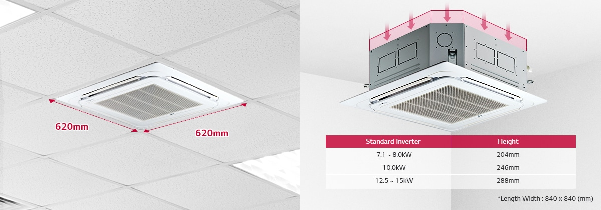 Split System AC: Cassette Air Conditioners | LG South Africa