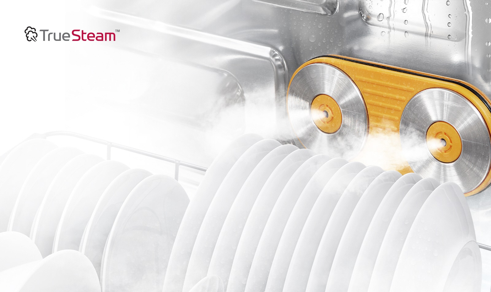TrueSteam™ Powerful washing with sparkling clean