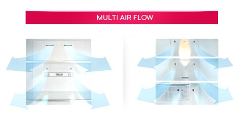 LG Fridges - Multi Air Flow