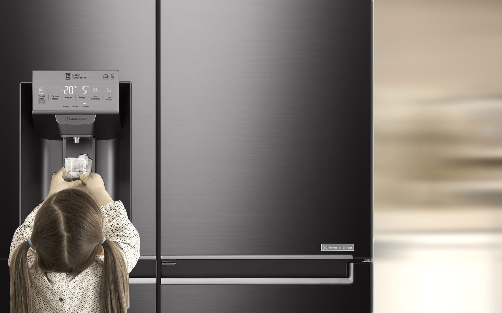 LG Fridges - Tall Ice & Water Dispenser