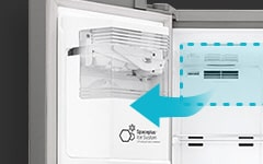 LG Fridges - Slim SpacePlus® Ice System