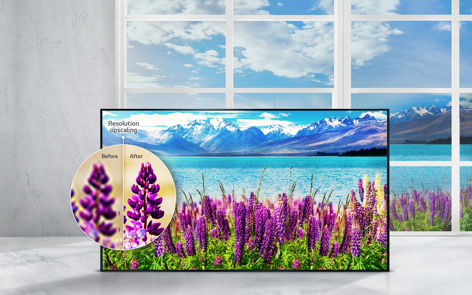 LG TV's - Upscale the resolution to 4K quality