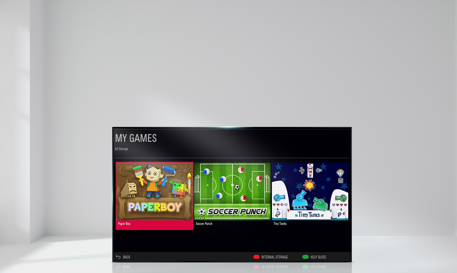 Built-in Games make anytime more entertaining with your TV