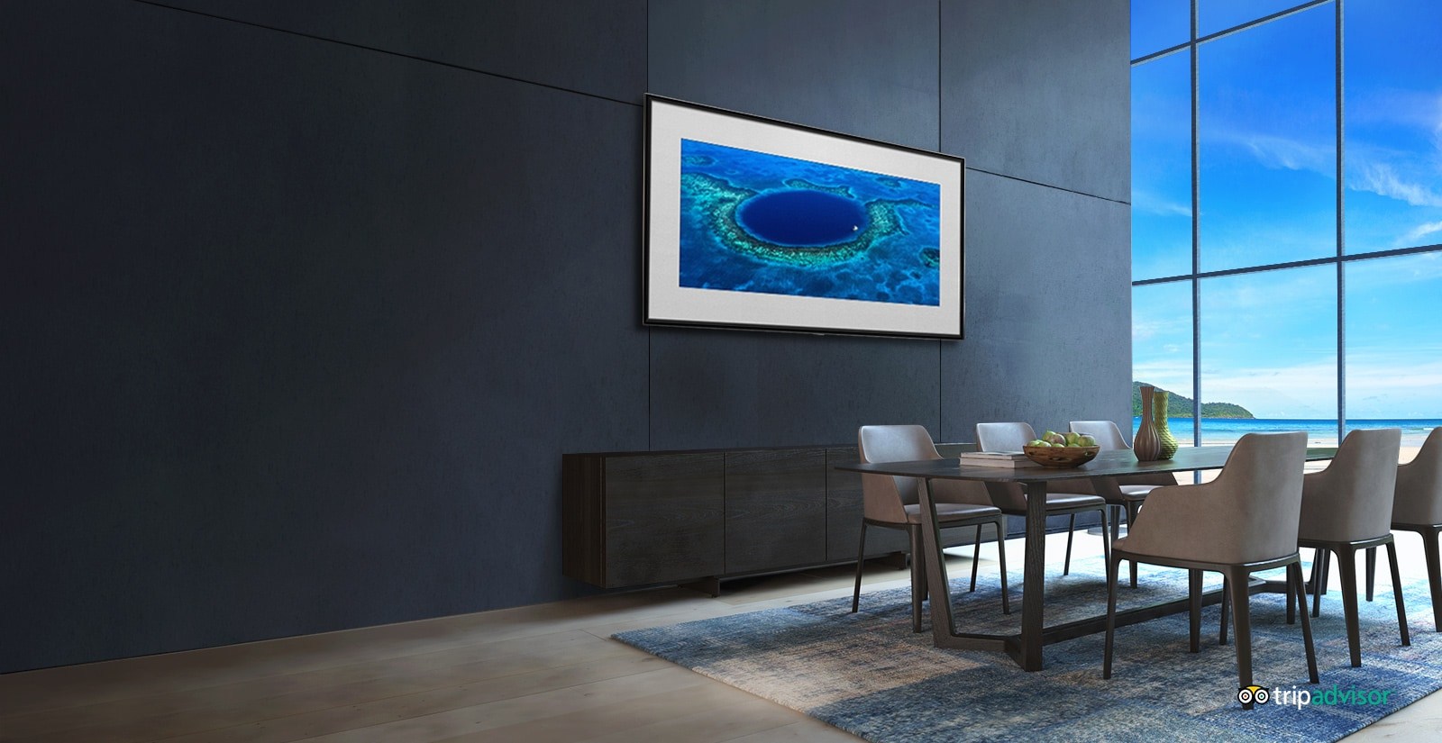 LG TV's - Gallery Mode for immersing in the vacation mood