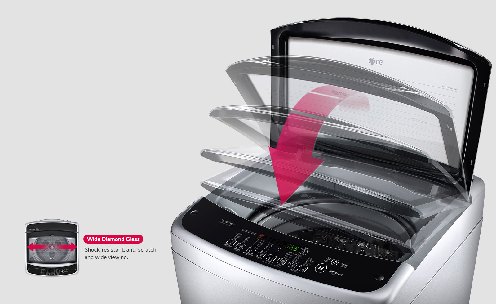 LG washing machines - Safe & Convenient Design