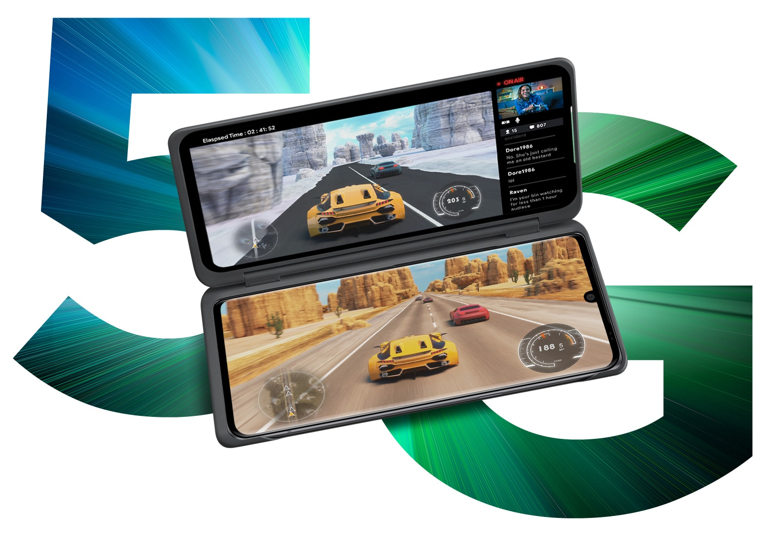 Racing game with smartphone.
