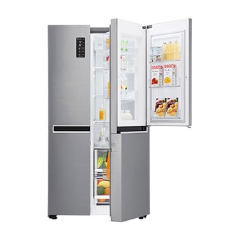 Fridge Freezers : 626L Platinum Silver Side by Side Refrigerator, Mega Capacity  GC-M247SLUV1