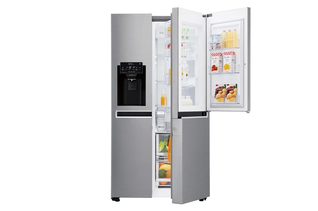 4b6bda29e LG 668L Side by Side Refrigerator  GC-J247SLLZ