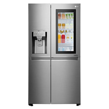 Fridge Freezers : 665L Stainless Steel Instaview Side by Side Fridge, Door-in-Door® GC-X247CSBV1