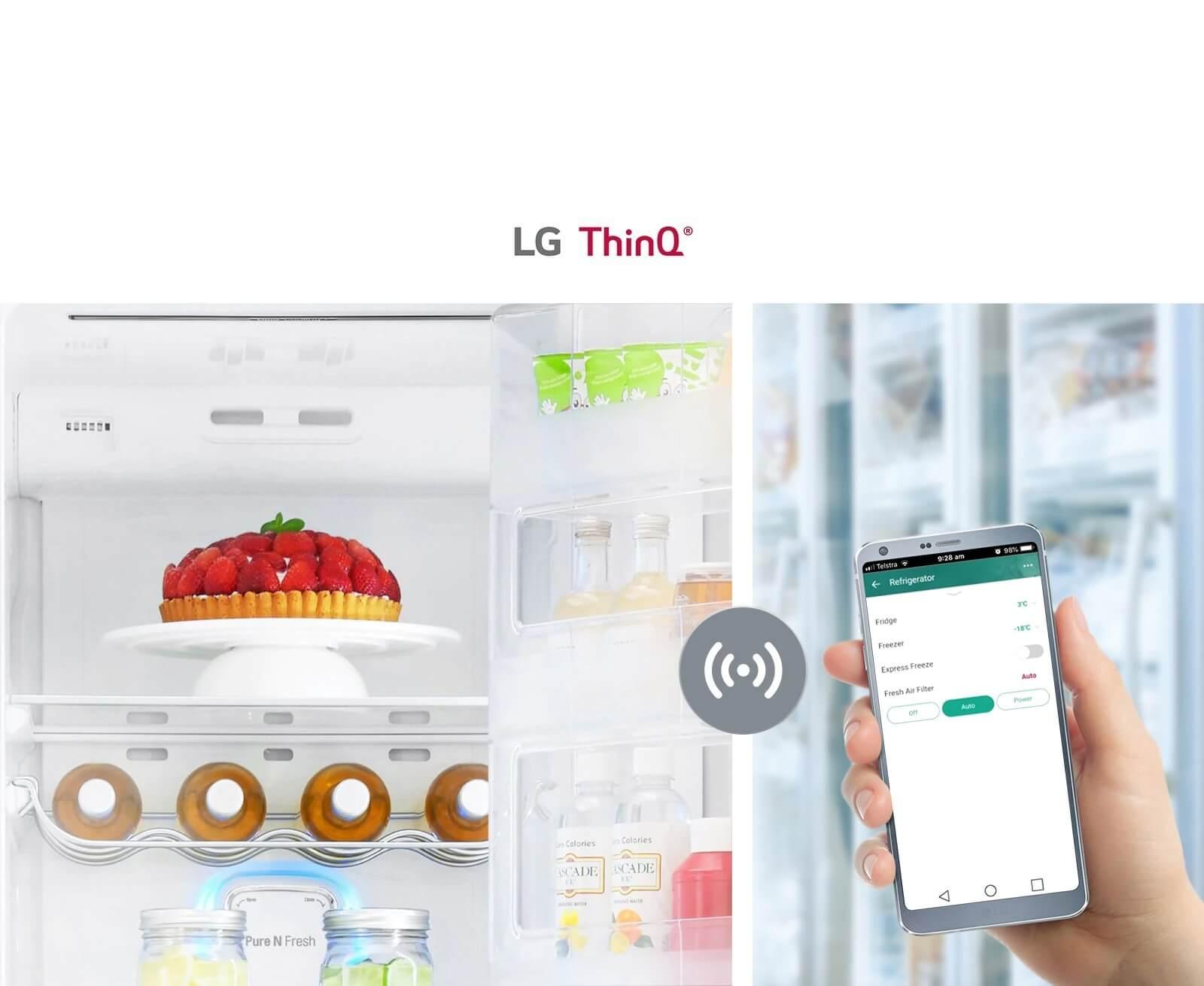 LG GC-X247CQBV Remotely Adjust Your Fridge Settings
