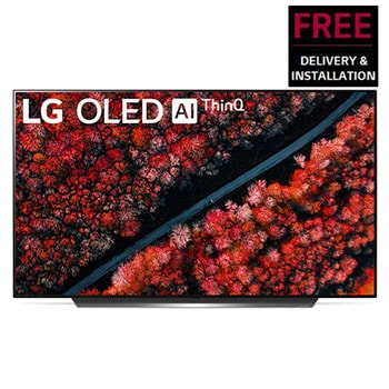 LG OLED TV 65 inch C9 Series Perfect Cinema Screen Design 4K HDR Smart TV w/ ThinQ AI1