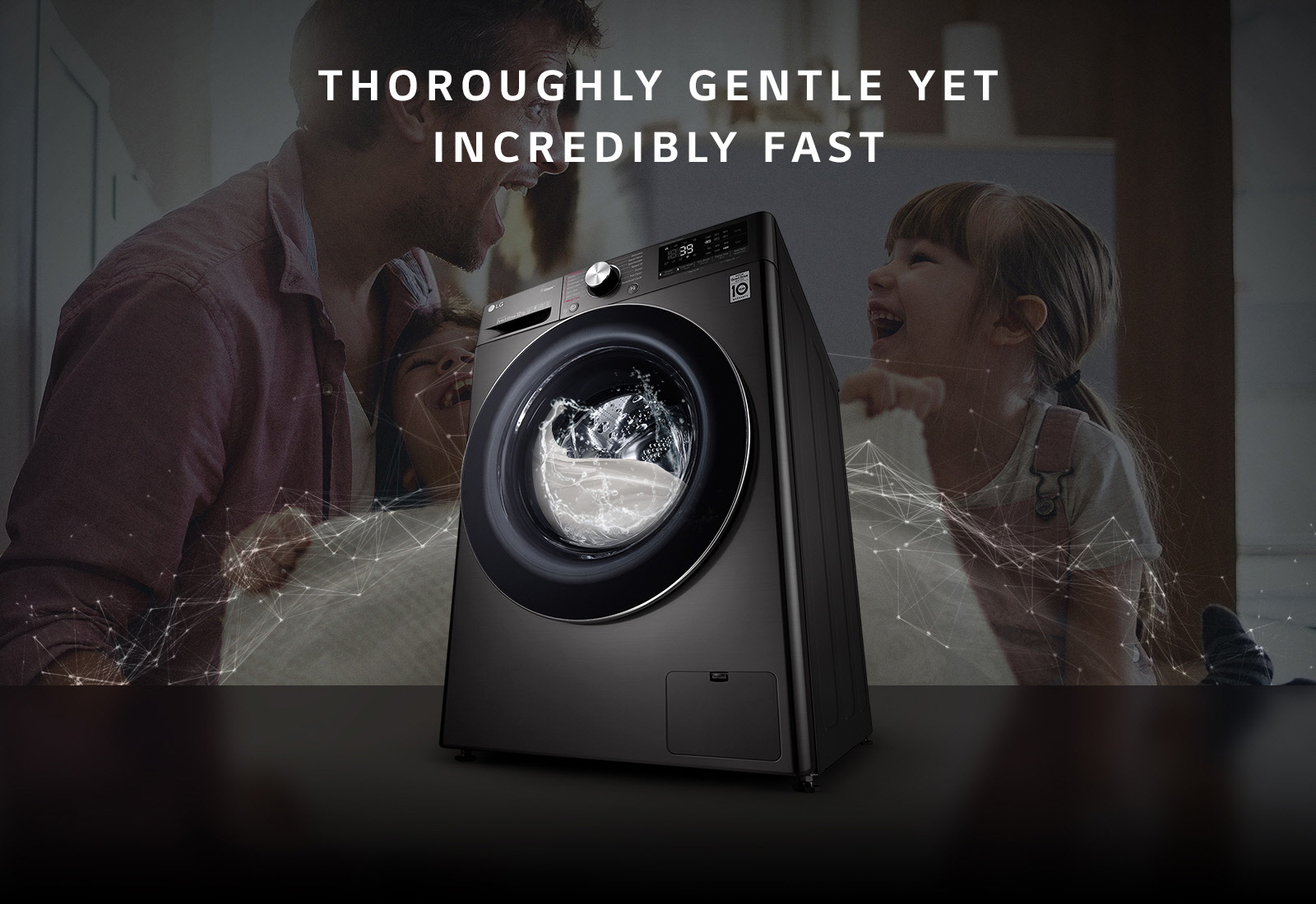 LG F4V9BWP2E 12 kg Thoroughly yet gentle incredibly fast