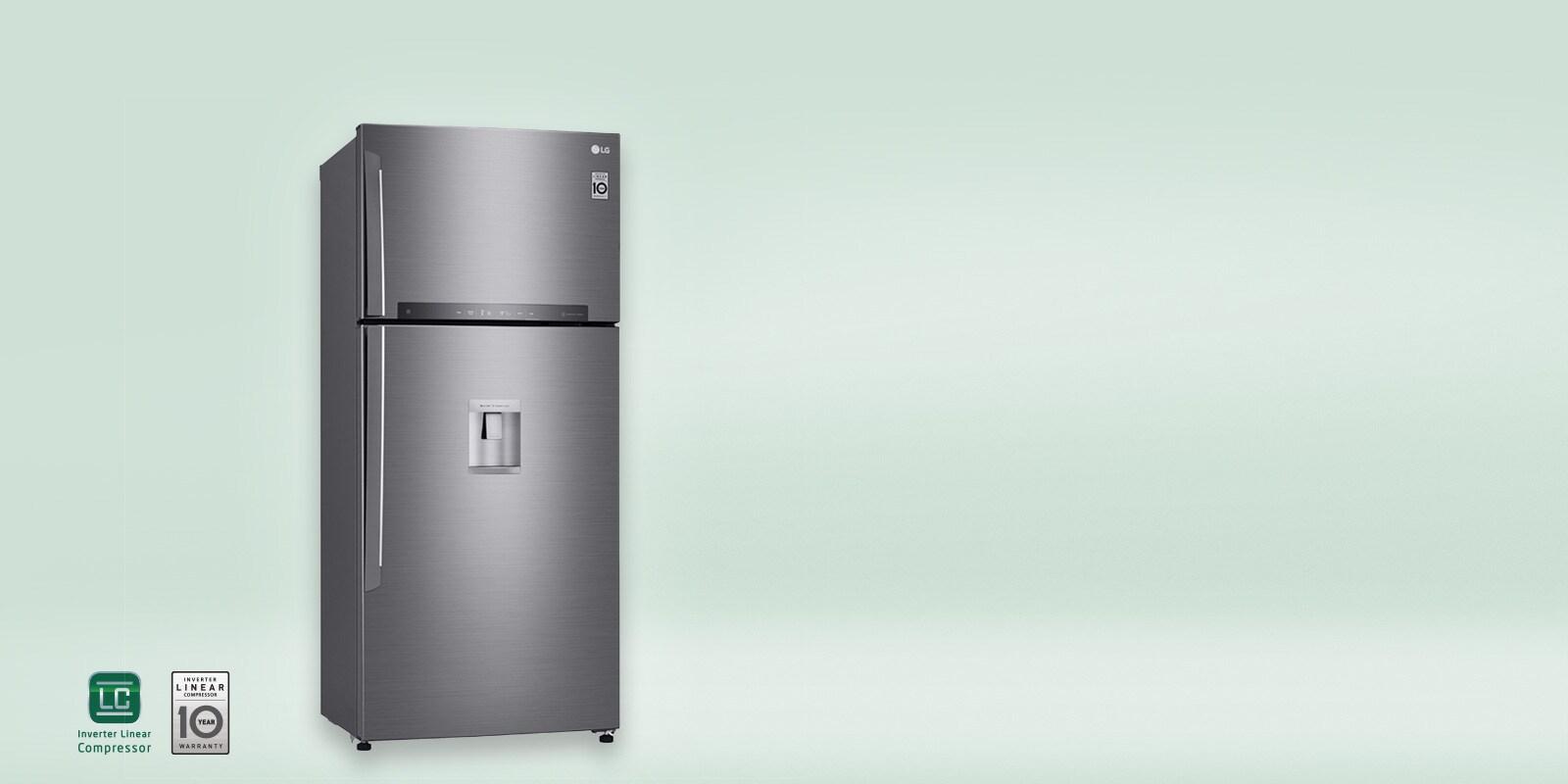 R frig rateurs 2 portes electrom nager lg lg france - Refrigerateur 2 portes congelateur bas ...